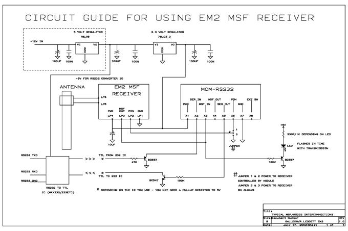 Bir zaman alıcı yapımı için şematik diyagramı